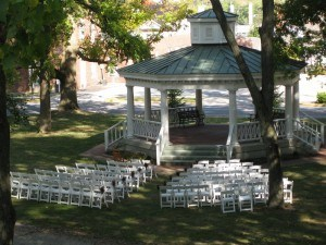 Lane wedding set up