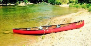 Sugar Creek Campground Single Canoe