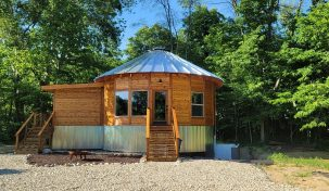 Yurt inspired Cabin at The Queen & I Bed and Breakfast